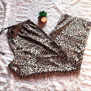 Victoria's Secret PINK Leopard Pajama Bottoms